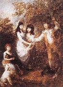 GAINSBOROUGH, Thomas The Marsham Children rdfg oil painting picture wholesale