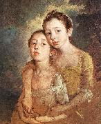 GAINSBOROUGH, Thomas The Artist s Daughters with a Cat oil painting picture wholesale