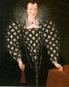 GHEERAERTS, Marcus the Younger Portrait of Mary Rogers: Lady Harrington dfg oil