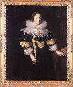 GHEERAERTS, Marcus the Younger Portrait of Lady Anne Ruhout df oil