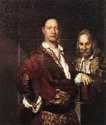 GHISLANDI, Vittore Portrait of Giovanni Secco Suardo and his Servant  fgh oil