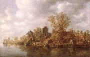 GOYEN, Jan van Village at the River sg oil painting picture wholesale