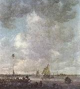 GOYEN, Jan van Marine Landscape with Fishermen fu oil painting artist
