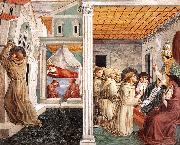 GOZZOLI, Benozzo Scenes from the Life of St Francis (Scene 5, north wall) g oil painting picture wholesale