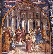GOZZOLI, Benozzo Scenes from the Life of St Francis (Scene 9, north wall) dh oil painting picture wholesale