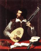 GRAMATICA, Antiveduto The Theorbo Player dfghj oil painting picture wholesale