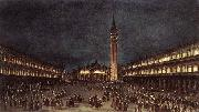 GUARDI, Francesco Nighttime Procession in Piazza San Marco fdh oil painting artist