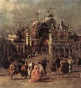 GUARDI, Francesco Piazza di San Marco (detail) dh oil painting picture wholesale