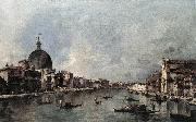 GUARDI, Francesco The Grand Canal with San Simeone Piccolo and Santa Lucia sdg oil painting picture wholesale
