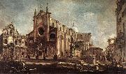 GUARDI, Francesco Campo Santi Giovanni e Paolo fh oil painting picture wholesale