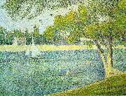 Georges Seurat The Siene at La Grande Jatte oil painting picture wholesale