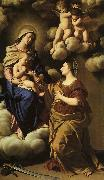 Giovan Battista Salvi Sassoferrato The Mystic Marriage of St.Catherine oil painting artist