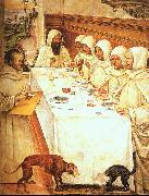 Giovanni Sodoma St.Benedict his Monks Eating in the Refectory oil painting picture wholesale