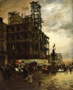 Giuseppe de nittis The Place des Pyramides oil painting
