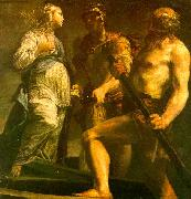 Giuseppe Maria Crespi Aeneas with the Sybil Charon oil painting artist