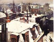 Gustave Caillebotte Rooftops in the Snow oil painting picture wholesale