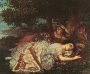 Gustave Courbet The Young Ladies of the Banks of the Seine oil painting picture wholesale