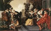 HALS, Dirck Merry Party in a Tavern fdg oil painting artist