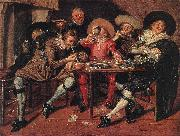HALS, Dirck Amusing Party in the Open Air s oil painting artist