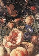 HEEM, Cornelis de Still-Life with Flowers and Fruit (detail) sg oil painting artist