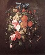 HEEM, Cornelis de Still-Life with Flowers wf oil painting artist