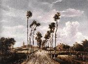HOBBEMA, Meyndert The Alley at Middelharnis g oil painting artist