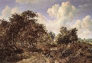 HOBBEMA, Meyndert A Wooded Landscape f oil painting picture wholesale