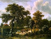 HOBBEMA, Meyndert The Travelers f oil painting artist
