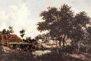 HOBBEMA, Meyndert The Water Mill sgr4 oil painting picture wholesale