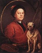 HOGARTH, William The Painter and his Pug f oil painting picture wholesale