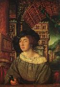 HOLBEIN, Ambrosius Portrait of a Young Man sf oil painting artist