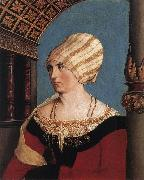 HOLBEIN, Hans the Younger Portrait of the Artist's Wife oil painting picture wholesale