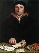 HOLBEIN, Hans the Younger Portrait of Dirk Tybis  fgbs oil painting picture wholesale