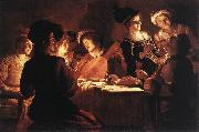 HONTHORST, Gerrit van Supper Party qr oil painting picture wholesale