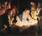 HONTHORST, Gerrit van Adoration of the Shepherds  sf oil painting artist