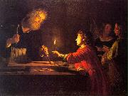 HONTHORST, Gerrit van Childhood of Christ sf oil painting artist