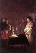 HONTHORST, Gerrit van Christ before the High Priest sg oil painting artist