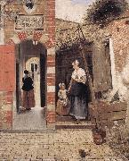 HOOCH, Pieter de The Courtyard of a House in Delft dg oil painting picture wholesale
