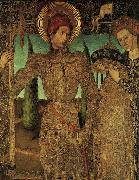 HUGUET, Jaume Triptych of Saint George (detail) af oil painting artist
