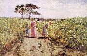 Hamilton Hamiltyon Picking Flowers oil painting picture wholesale