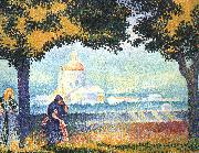 Henri Edmond Cross The Church of Santa Maria degli Angeli near Assisi oil painting artist