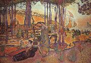 Henri Edmond Cross Evening Breeze oil painting artist