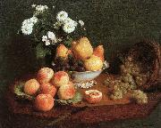 Henri Fantin-Latour Flowers and Fruit on a Table oil painting artist