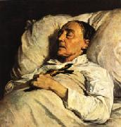Henri Regnault Mme. Mazois ( The Artist s Great-Aunt on Her Deathbed ) oil painting artist