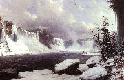 Hyppolyte Victor Sebron Winter at Niagara Falls oil painting picture wholesale