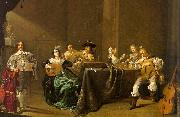 Jacob Duck Card Players and Merry Makers oil painting artist
