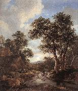 Jacob van Ruisdael Sunrise in a Wood oil painting picture wholesale