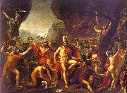 Jacques-Louis  David Leonidas at Thermopylae France oil painting reproduction