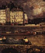James Wilson Morrice The Left Branch of the Seine before the Place Dauphine oil painting picture wholesale