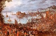 Jan Brueghel The Great Fish Market oil painting artist